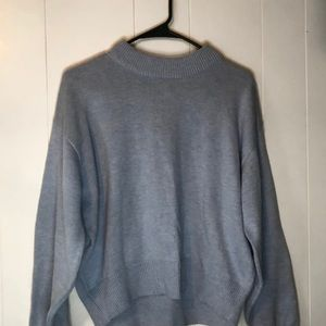 Periwinkle oversized cropped sweater
